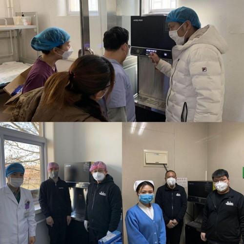 安吉尔步履不停 为天津、菏泽多家医院捐赠抗毒抑菌直饮水设备