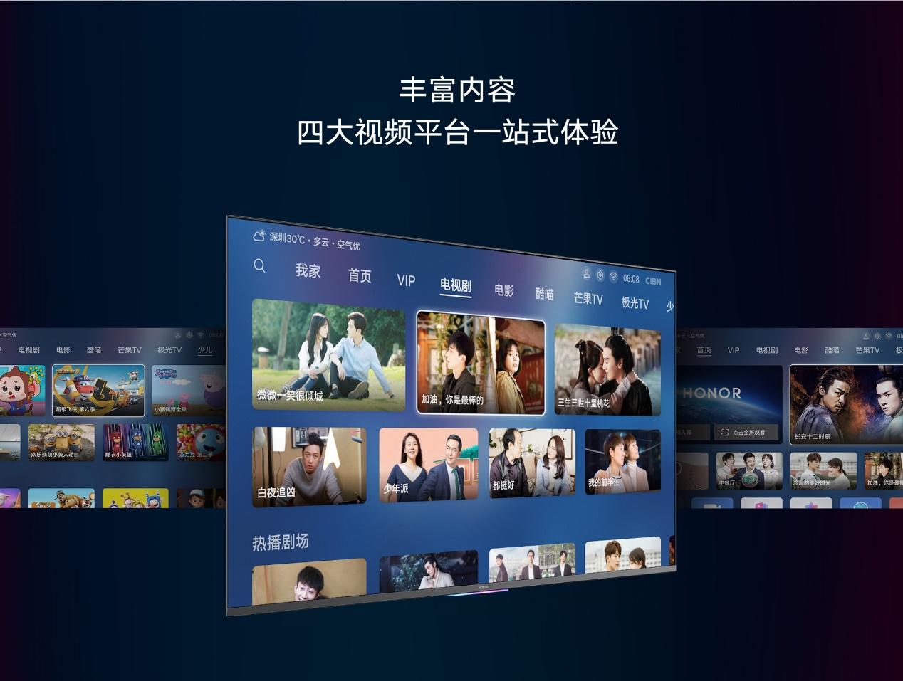 智慧屏五大标准获用户认可,荣耀智慧屏斩获双平台电视销售额冠军