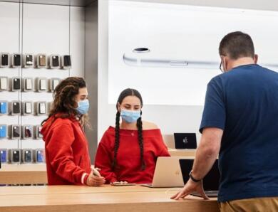 苹果:全球范围内近100家零售店已重新开放