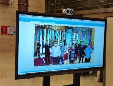 BOE(京东方)AI体温预警系统及智慧办公解决方案助力全国两会召开