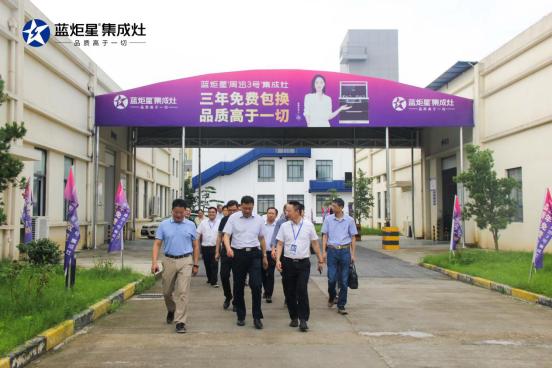 集成灶10大品牌,浙江省智能制造专家到访蓝炬星集成灶!