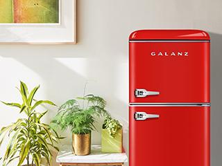 颜值爆表的格兰仕复古双门冰箱,满足年轻人对夏天的所有幻想!