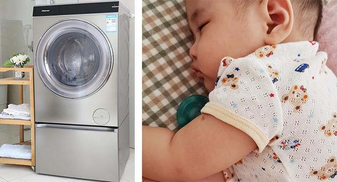 解决奶爸烦恼?海信S9蒸烫洗衣机悄悄告诉你!