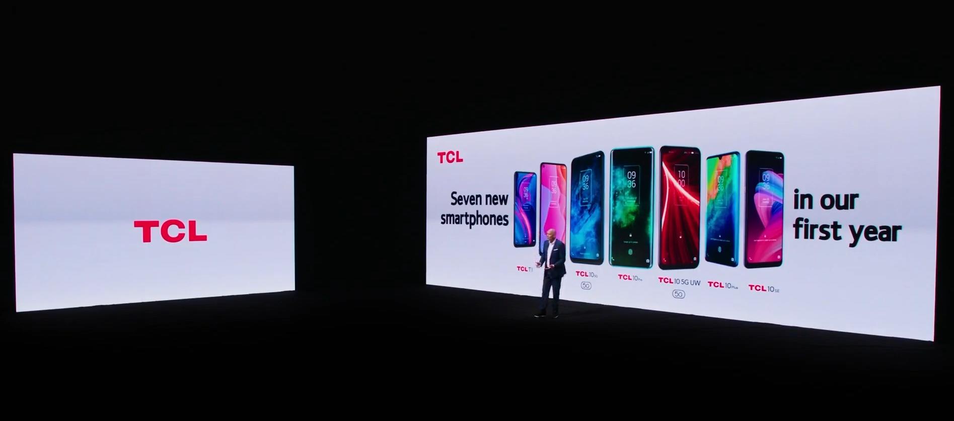 TCL参展CES 2021:20系列5G智能手机、智能观影眼镜正式推出