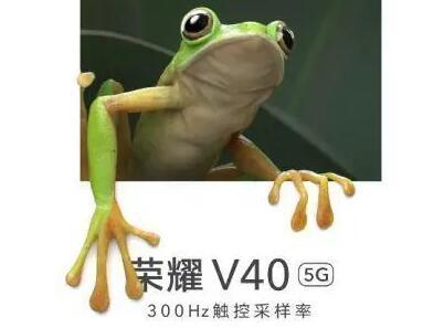荣耀V40官宣300HZ触控采样率:1.18正式发布