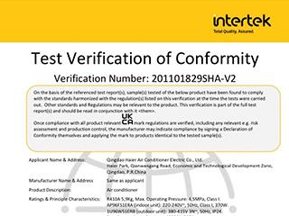 全球首张!海尔中央空调获得英国UKCA认证