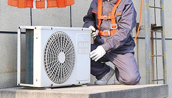 空调工的安全绳如何系牢?