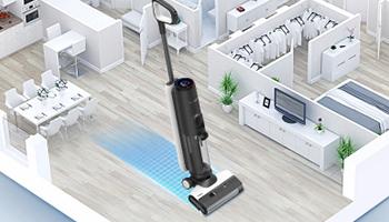 添可智能洗地机芙万2.0LCD,清洁全屋不费劲