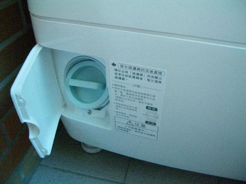 松下洗衣机排水阀结构图 拆解
