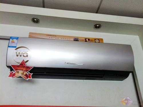 这款三菱电机新品空调采用铝合金拉丝弧形面板设计,简约华贵.