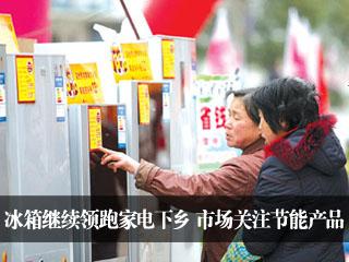 冰箱继续领跑家电下乡 市场关注节能产品