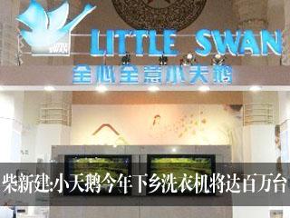 柴新建:小天鹅今年下乡洗衣机将达百万台